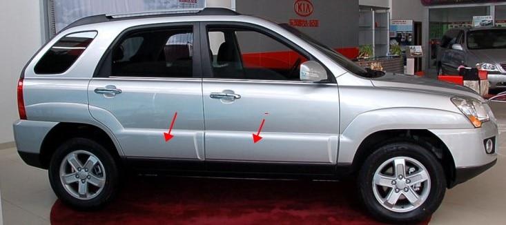 Двери автомобиля Анти-руб Антиколлизии бампер руб полосы для Киа Спортаге 2007-2009