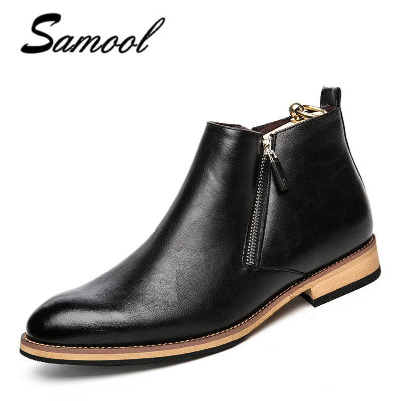 men boots genuine leather fashion classic business office formal - Men's Shoes