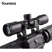 Tactical 4X32 Compact Scope Reticle Hunting Riflescopes Cross Hair Reticle Fits 20 mm Rail Mount for Hunting