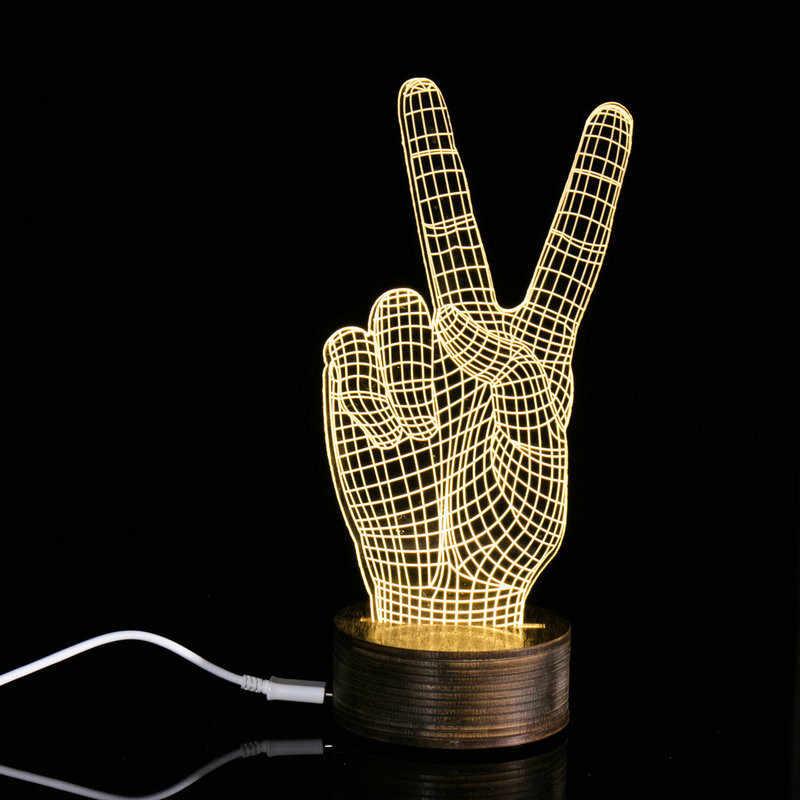 100% Бренд новый Высокое качество 3D уникальные световые эффекты Оптические иллюзии домашний Декор светодиодный Настольный светильник Прямая доставка