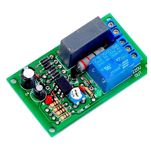 AC 220V D1B5 relay board,power on,Timer Relay Delay,Input/Output Delay Off Switch Module circuit module,corridor switch cycle through off trigger delay power off delay time adjustable 220v relay delay timer switch