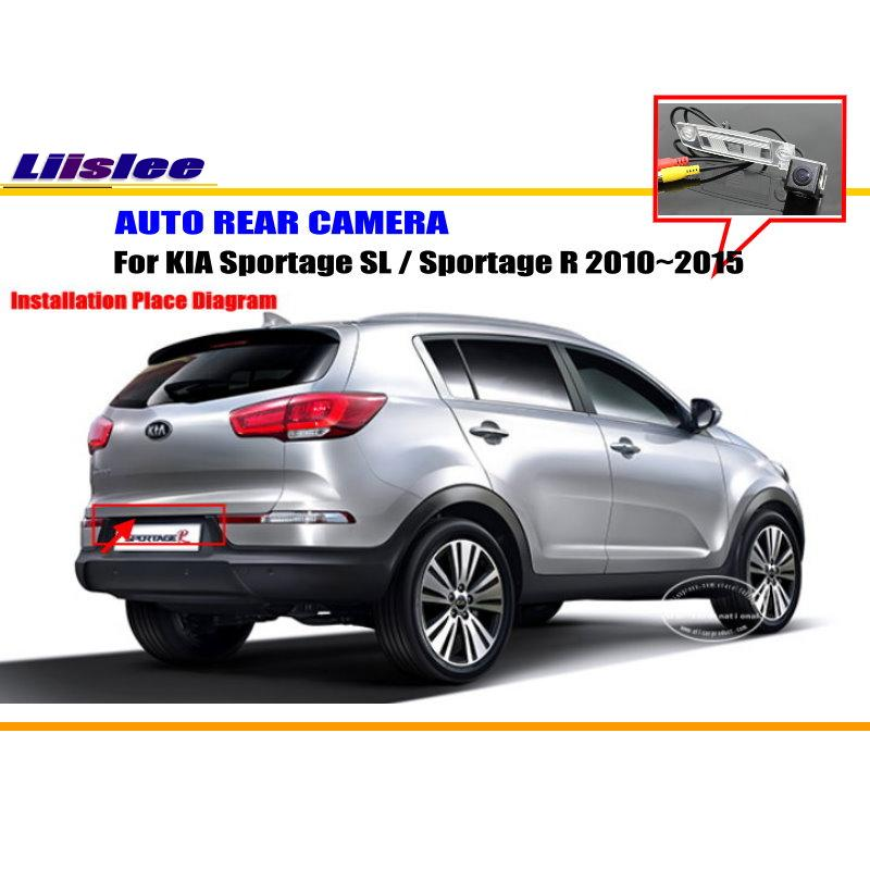Car Rear View Camera HD Back Up Reverse Camera For KIA Sportage R 2011 2015 License