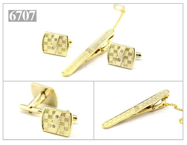 Golden Ropes Tie Bar and Cufflink Set CTB2545