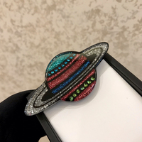 2019 New Hot Brand Fashion Jewelry For Women Planet Brooches Colorful Planet Party Sweater Brooche C Name Stamp Planet Brooches