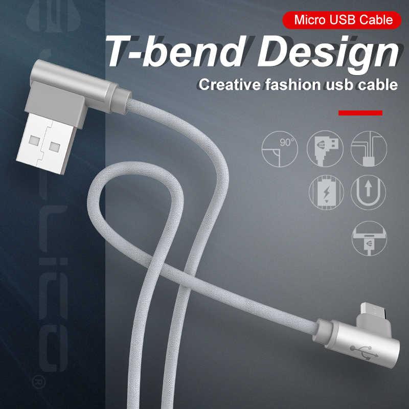 Jellico 10pcs Micro Cavo USB 90 Gradi Cavo Dati Per Samsung Huawei Xiaomi Tablet USB Intrecciato Cavo Commerci All'ingrosso Dropshipping