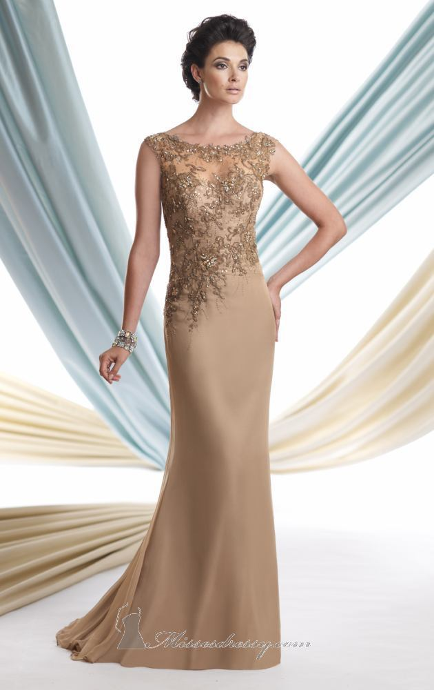 Beaded Champagne Mother of Bride Gowns_Other dresses_dressesss
