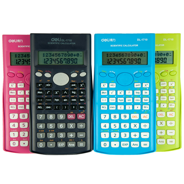 Scientific Calculator Colored Calculadora Cientifica Solar Power Electronics Textbooks Stationery Office Material School Supply