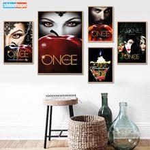 Personalizado uma vez em um tempo poster da lona 30x45cm, 40x60cm arte decoração para casa pano parede poster impressão tecido de seda