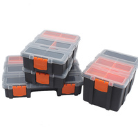 High Quality Clear Open Core Divided Interior Plastic Storage Container