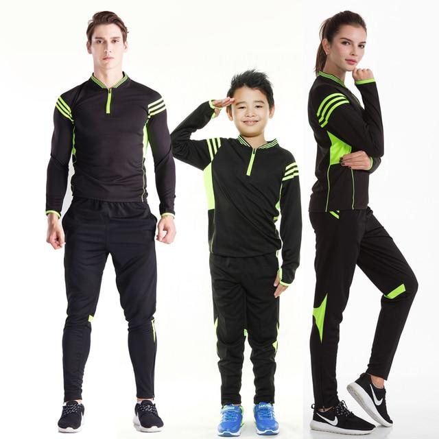 f3a6911c New Season Football Training kit Men Women Child Football Tracksuit Soccer Tracksuit  Football Jersey Sportswear Running suit