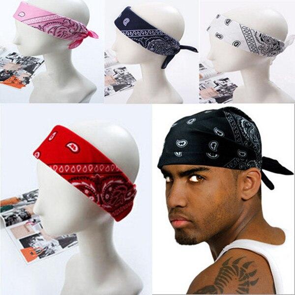 1 unid pañuelos de Hip hop para hombre mujeres mujeres masculinas Head bufandas de la bufanda