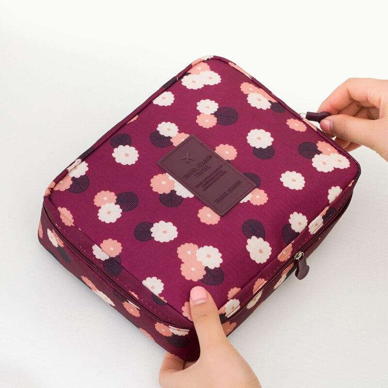 Portable Toiletry Cosmetic Bag Waterproof Makeup Make Up Wash Organizer Storage Pouch Travel Kit Handbag Brand Design Neceser