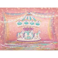 Oxford Dream Pink Carousel Ribbon Spots photography backdrop Newborn Birthday Baby Shower Party Custom Photo Backgrounds