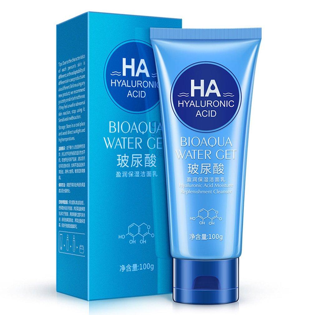 100g Hyaluronic Acid Moisturizer Facial Cleanser Hydrating Cleaning Dirt Oil Control Shrink Pores Men/women Skin Care
