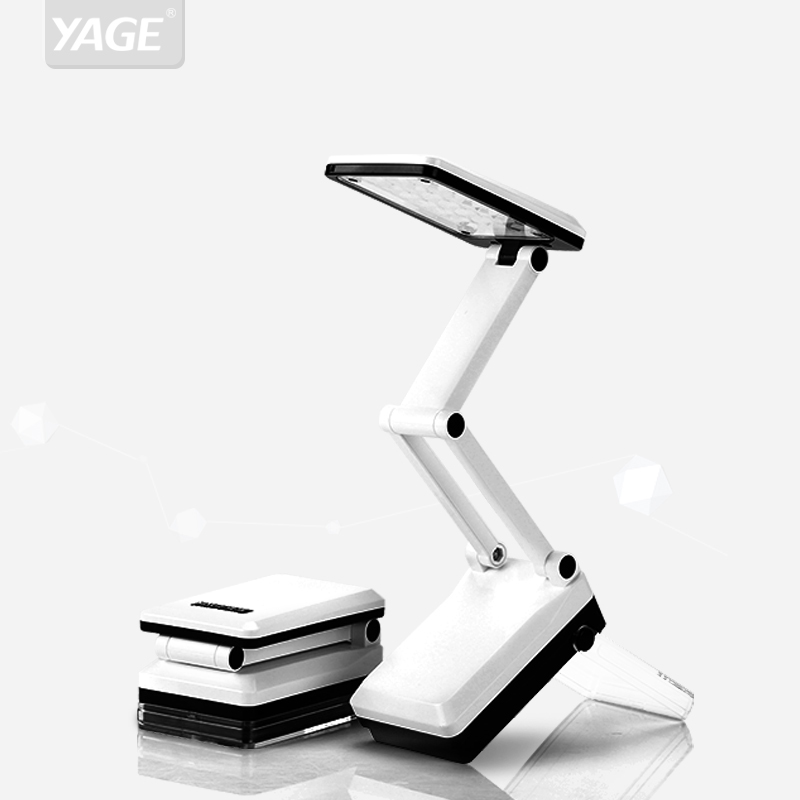 YAGE Mini Led Table Lamp Foldable Table Light Rechargeable 600mAh Battery Desk Light 16pcs LED Desk Lamps Student Special Lampe in Desk Lamps from Lights Lighting