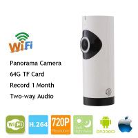 Hot Mini Half Panorama 180 Degree VR IP Camera Wifi 720P HD Smart Network Surveillance Night