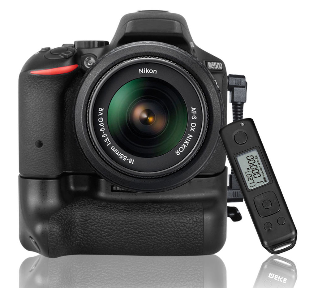 Meike MK-DR5500 Battery Grip For Nikon D5500 With 2.4G Wireless Remote Control установка sera flore для удобрения воды со2