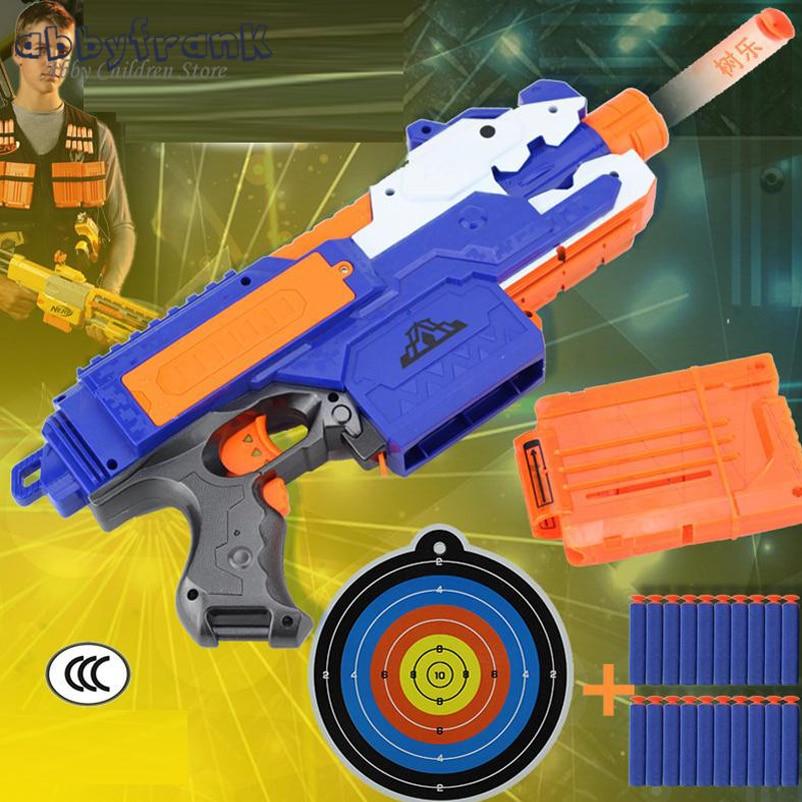 Abbyfrank Sniper Rifle Plastic Toy Gun Soft Bullet Toy Gun 20 Bullets 1 Target Electric Gun Toy Birthday Gift Toy For Child Boy