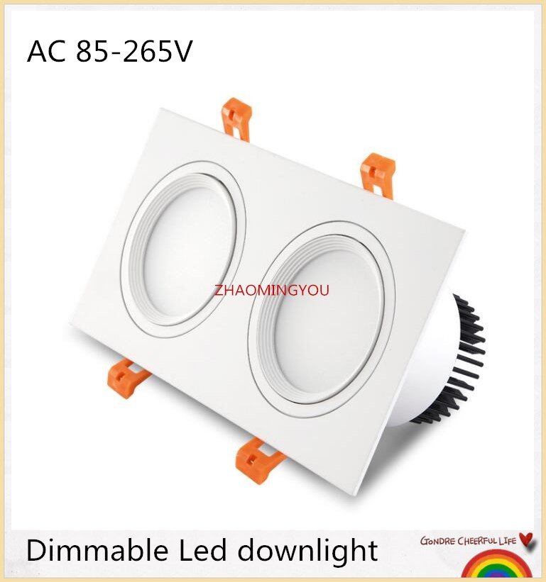 LED Dimmable Square cob Downlight COB 10W 14W 20W 30W 22W 24W 40W 50W LED Spot light decoration Ceiling Lamp