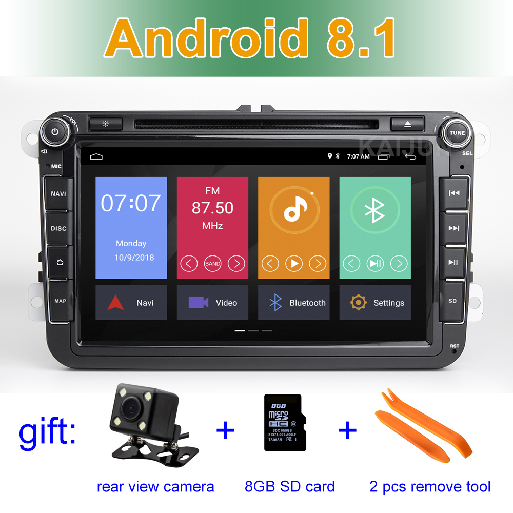 8 Android 8.1 Car DVD P Radio Stereo GPS for VW Passat CC Golf 5 6 T5 EOS B5 B6 B7 Jetta Touran Tiguan Multivan