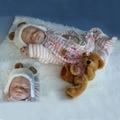 UCanaan 50-55 см Reborn Baby Doll Лучшие Игрушки Куклы Возрождается Куклы Младенца для Малыша Подарок Игрушки в шляпе на Новый Год Бесплатная Доставка