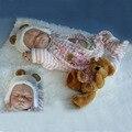 UCanaan 50-55 cm Bebê Reborn Boneca Melhor Brinquedo Bonecas Renascido Do Bebê Bonecas para o Miúdo Dom Brinquedos com o Chapéu na noite de Ano Novo Frete Grátis