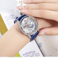 Новые классные женские часы женские кварцевые часы леди полный алмазов моды столешницы бренд класса люкс для девочек часы розовое золото