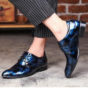 Image 4 - REETENE Floral Pattern Men Dress Shoes Men Formal Shoes Leather Fashion Groom Wedding Men Shoes Oxford Shoes For Men Zapatos De