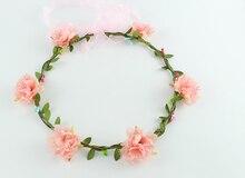 Hot selling handmade Rose Flower Wreath Crown Garland Halo for Wedding Festivals Girl Rose Wreath Headpiece Boho Floral crown