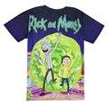 Rick E Morty Galáxia Crewneck T-shirt de Impressão 3d Nebulosa do Espaço Dos Homens Das Mulheres T Dos Desenhos Animados Camisetas Tops