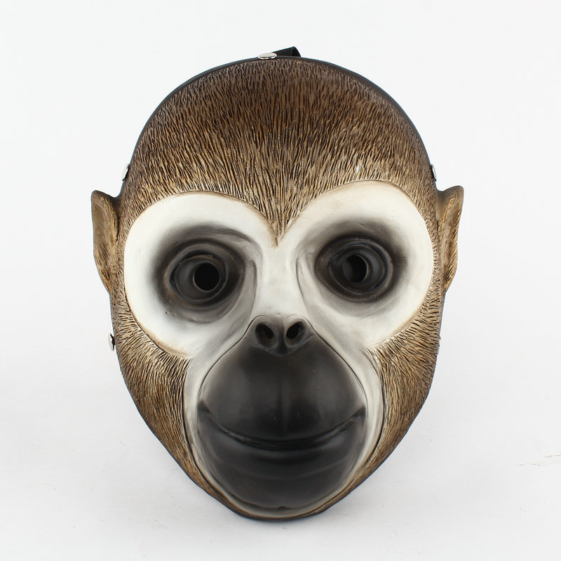 ФОТО Hot New 27cm Payday 2 Monkey Resin Mast collection Scared Halloween Cosplay creative action figure toy Christmas gift