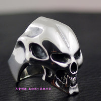 Thailand imports, CRAZY PIG smooth forehead laughing skull imported Silver Ring
