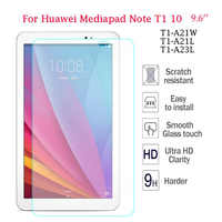 9 H de Vidro Temperado Para Huawei T1 T1 10 T1-A21W Protetor de Tela Para Huawei MediaPad 9.6 T1-A21L T1-A23L Honra nota Tablet Vidro