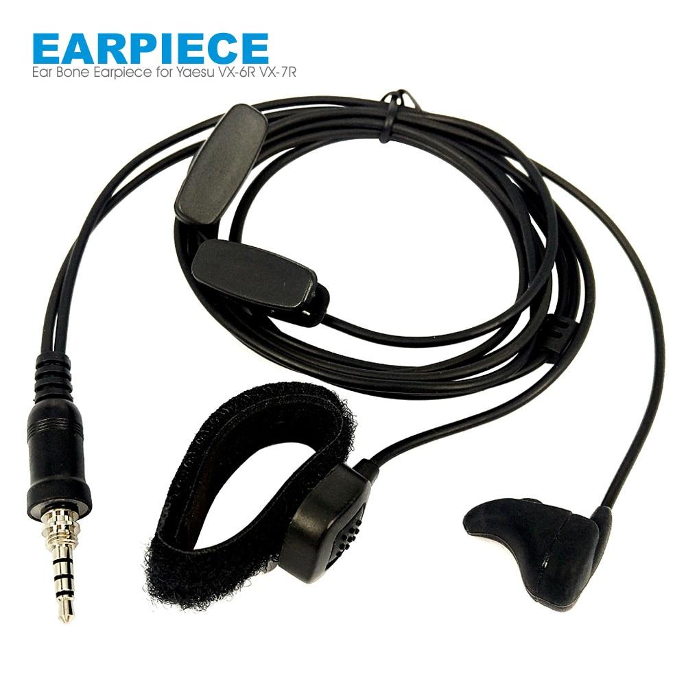 Vibrate Ear Bone Earpiece Speaker Mic 2 In 1 Finger PTT Headset For Yaesu Vertex VX-6R VX-7R FT-270 FT-270R VX-170 Walkie Talkie