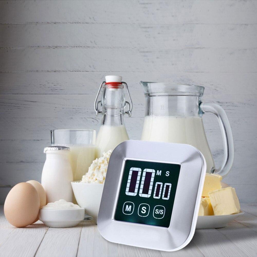 Shanwen Mini Carré Cuisson Minuterie Écran Tactile Pratique Réveil Cuisine Kit Avec LCD Affichage Numérique