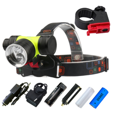 Diving headlight LED 26650 battery CREE L2 waterproof Headlamp yellow light 395 UV Head Lantern bicycle AAA 18650