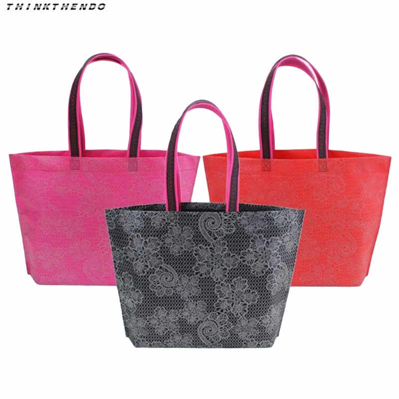 المحمولة طوي حقيبة تسوق قدرة كبيرة أكياس النايلون حقيبة ripstop للماء سميكة