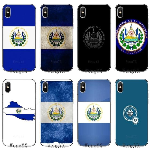 El Salvador Lambang Bendera Slim Silikon TPU Soft Phone Case untuk Apple Iphone 4 4 S 5 5 S 5c Se 6 6 S 7 7 Plus X XR X Max