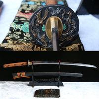 Free stand +sword Full Tang Hand forge 1060 High carbon steel Japanese Samurai Sword katana sharp.