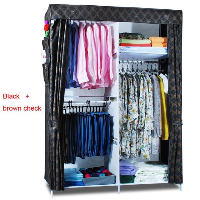 Bon Clothes Closet Wardrobe Armoire Storage Organizer Clothespress Canvas Space  Saver Cabinets Cupboard