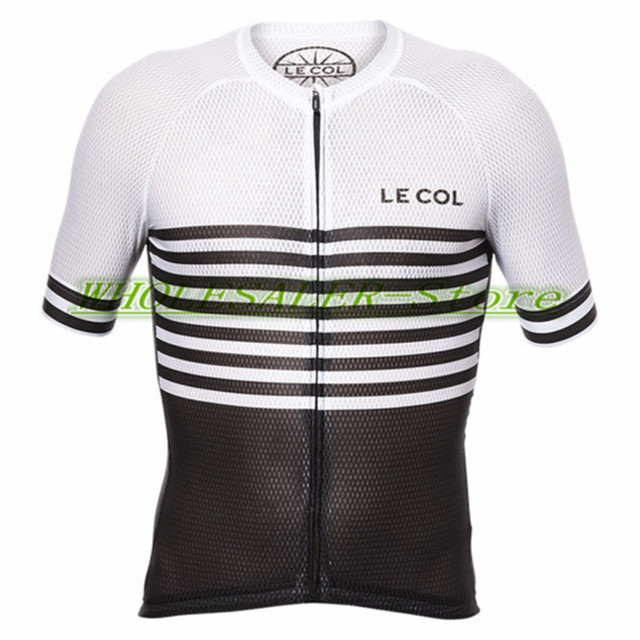 2018 Top Quality Reticulated fabric Short sleeve PRO TEAM AERO le col CYCLING  Jersey Bicycle Cross Ropa Bike clothing manufact c8c7598a9
