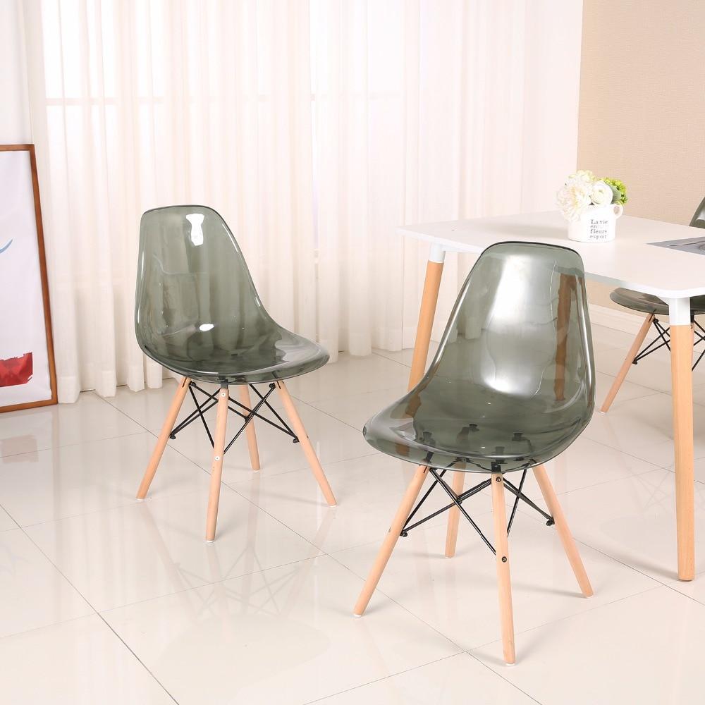 Eggree conjunto de 4 pces moderno jantar cadeira lateral para restaurante, sala de jantar e quarto-2-8days armazém da ue