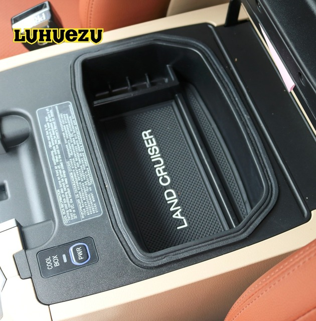 2008-2017 Car Interior Non-Slip Stowing Tidying Box Central Box For Toyota Land Cruiser LC 200 FJ200 Accessories