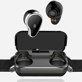 T99 TWS スマートバイノーラル Bluetooth ヘッドフォンフィットネスブレスレット心拍数モニタースマートリストバンドスポーツウォッチメンズ