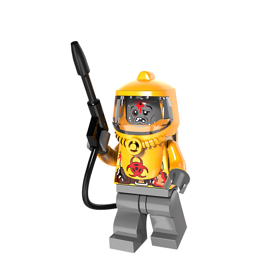 Nuclear radiation Biochemical zombies Modern Military Armed Forces SWAT Building Blocks Toys For Children Gif