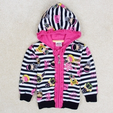 Girls winter coat bobo choses children outwear nova kids clothing girls jackets spring/autumn hooded for girls clothes F3425