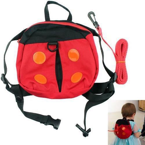 Safety Cute Cartoon Red ladybug and Gray Bat Baby Anti-lost Walking Wings Kid Harness Backpacks Strap Bag