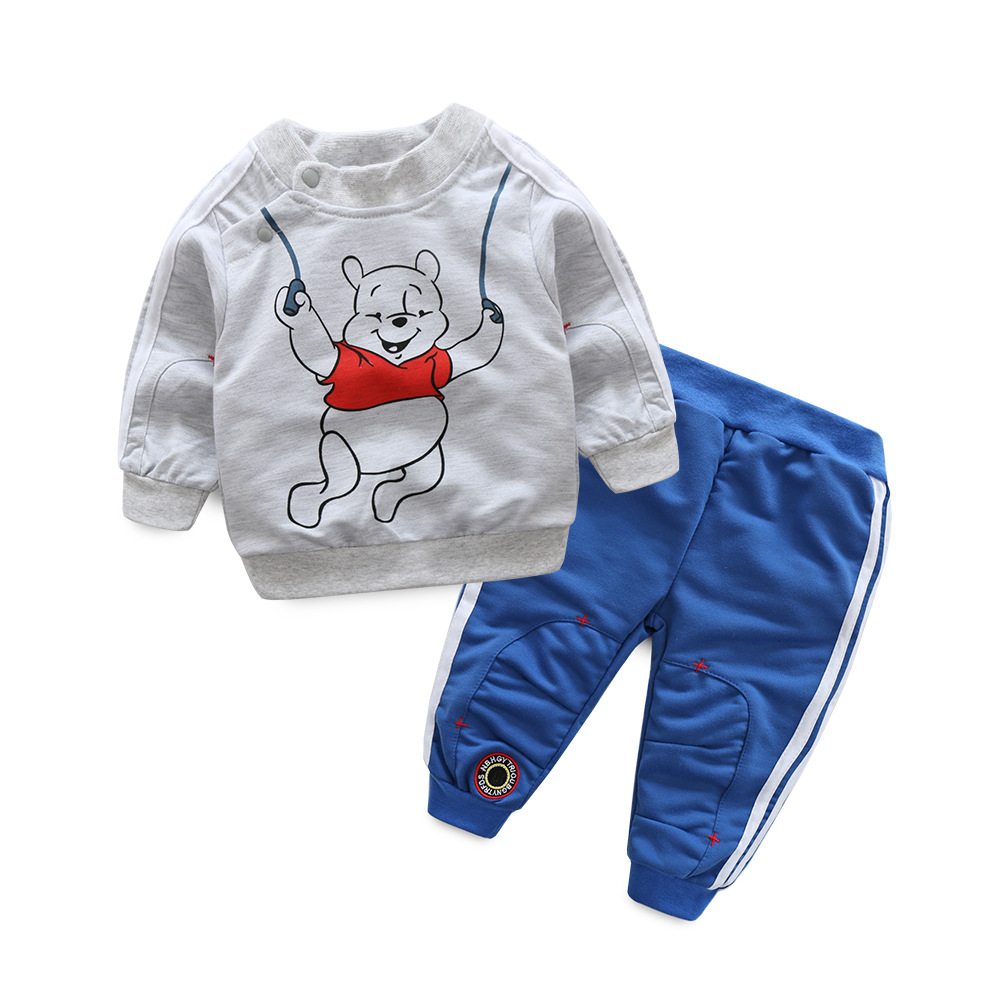 2017 Spring Baby Boy Girl Clothes Long Sleeve Top Pants 2pcs Sport Suit Baby Clothing Set Fashion Newborn Infant Clothing cute newborn infant baby girl boy long sleeve top romper pants 3pcs suit outfits set clothes
