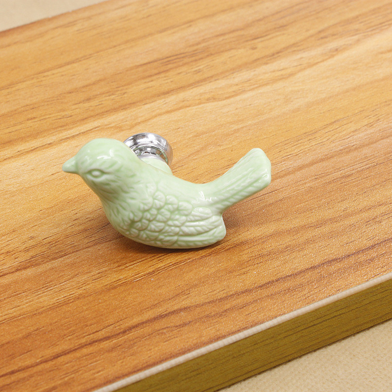 MEGAIRON Children Room Drawer Handles Bird Ceramic Dresser Knob Cute Cabinet Door Handles and Cupboard Knobs with Screws in Cabinet Pulls from Home Improvement