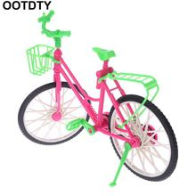 Doll Bicycle Dollhouse Simulation Fashion Plastic Bike Dolls Decoration Accessories Children Toys Gifts Removable House Game Toy(China)